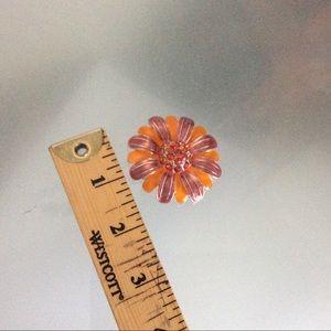 Avon Brooch Pin Flower Metal Enamel